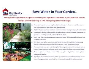 2015-07 July - Save water in your garden1